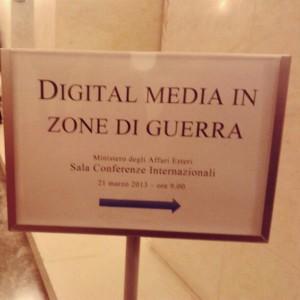 Digital media in zone di guerra
