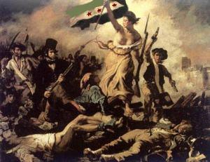 la libertà guida il popolo siriano