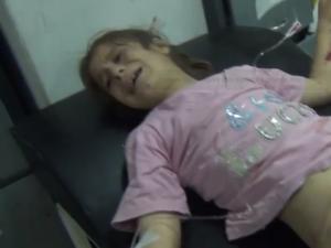 Talbysah, 13 maggio 2013 bambina amputata