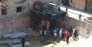 Homs 18 luglio 2013  - missile su una scuola