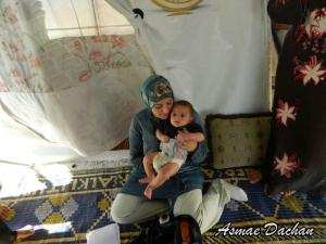 Neonati nei campi profughi
