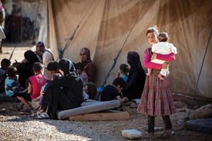 Sofferenza donne e bambini siriani