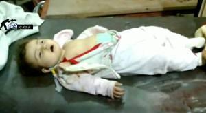 Ibtissam un anno e pochi mesi uccisa dall'assedio a Damasco 25 dicembre 2013