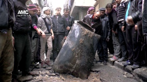 Mideast Syria Barrel Bombs