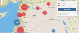 cartina vittime e profughi