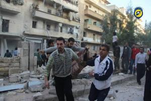مجزرة صلاح الدين - حلب -30-10-2015